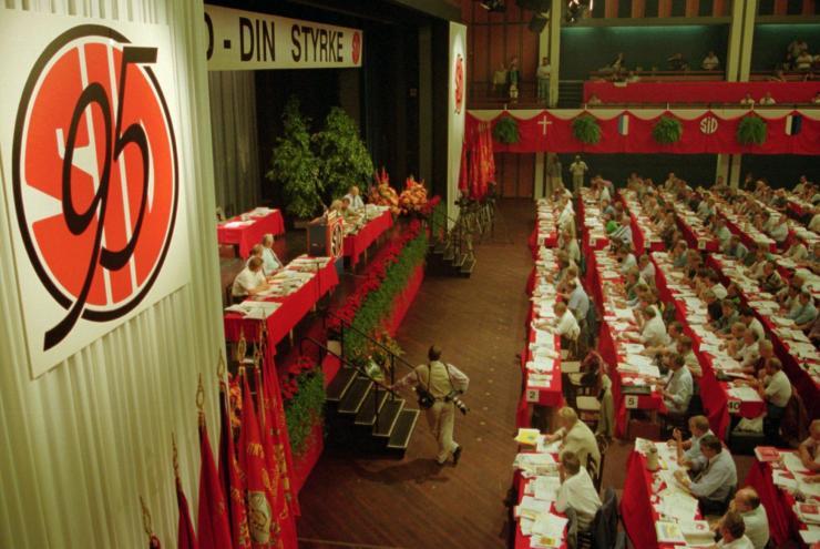 Bjarne Høpner deltog i 1995 på SID's dramatiske kongres i Falkoner Centret, hvor Poul Erik Skov Christensen blev ny forbundsformand efter et kampvalg mod Willy Strube.