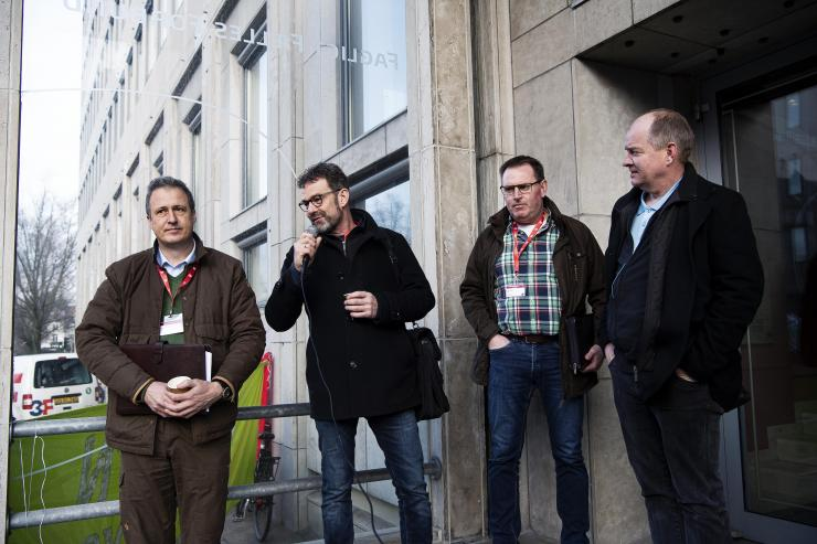 Forhandlerne fra Danske Anlægsgartnere fik også mulighed for at præsentere sig for de fremmødte, inden forhandlingerne gik i gang.