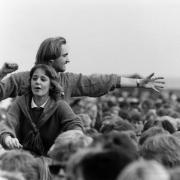 1. maj bliver der traditionen tro afholdt arrangementer i hele Danmark. Billedet er fra Tangkrogen i Aarhus 1. maj 1986.