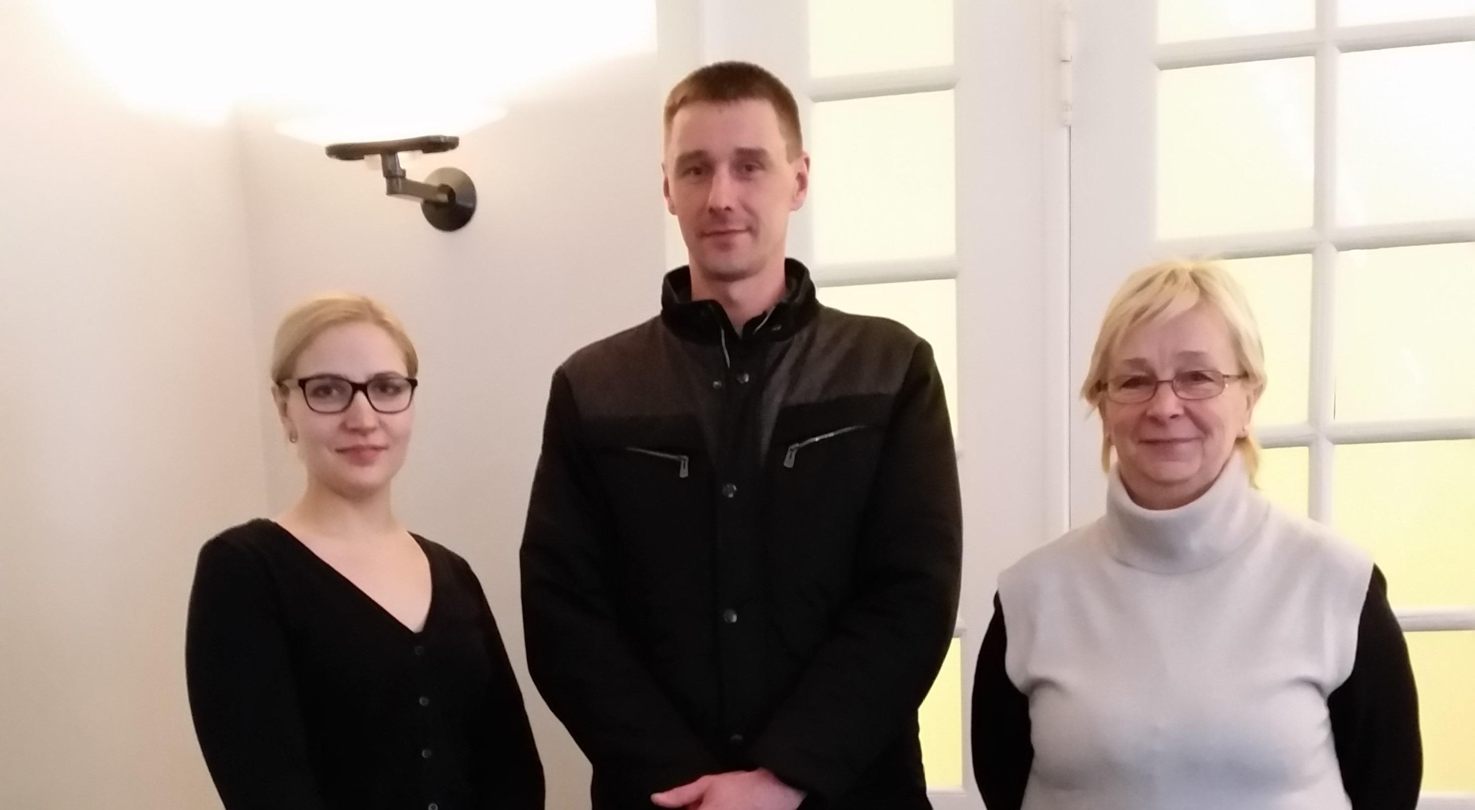 Her er tre af sagens seks litauiske arbejdere, fra venstre Jurate Meksriunaite, Mindaugas Gajauskas og Violeta Sutkuviene.