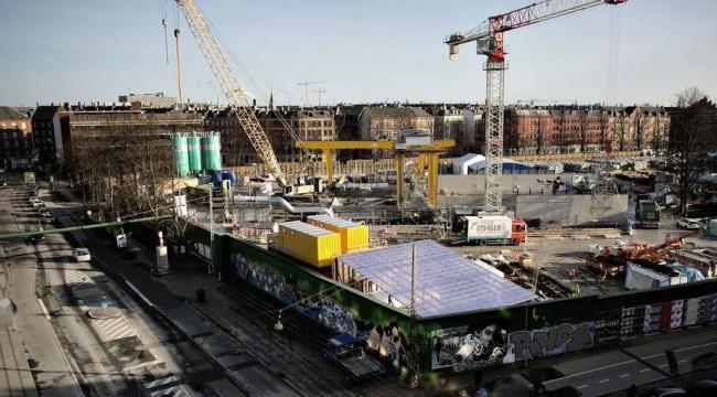 Metro-byggepladsen ved Nørrebroparken.